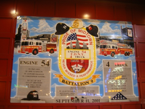 In memory of firefighters lost on 9/11.  Near our hotel in NYC.